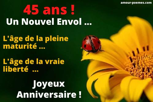 Messages Bon Anniversaire 45 Ans Pour Une Femme Ou Un Homme