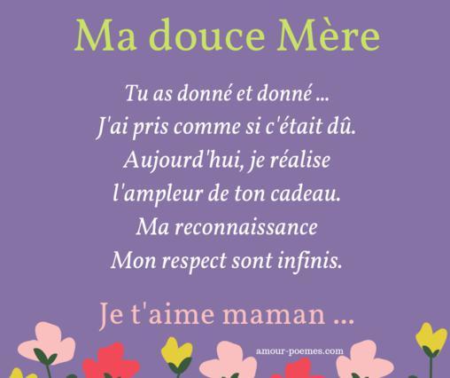 Beaux Messages Pour Une Mère Citations Maman Je Taime